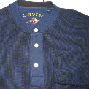 ORVIS Thermal Henley LS LARGE  Navy Blue